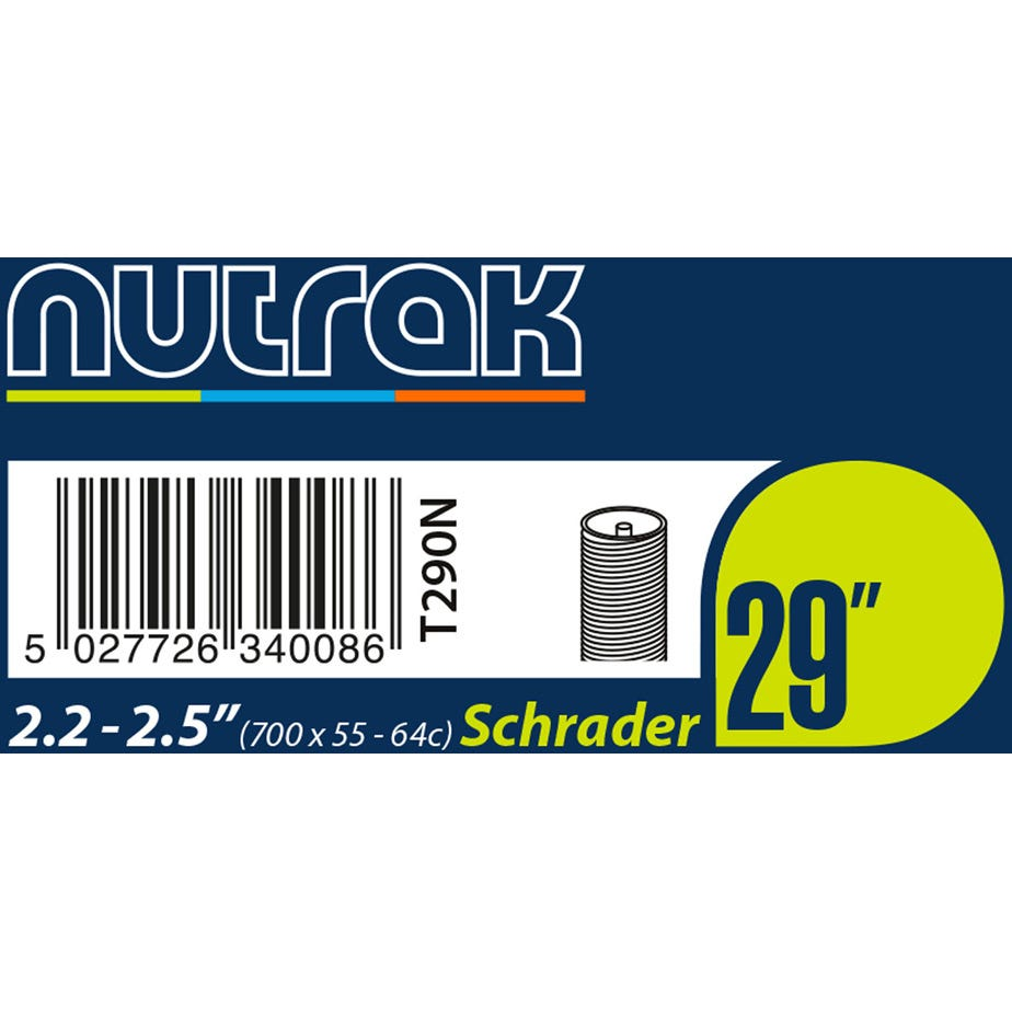 Nutrak 29 X 2.2 - 2.5 inch Schrader inner tube