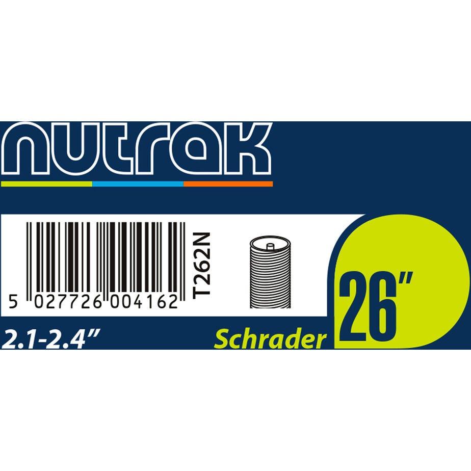 Nutrak 26 x 2.1 - 2.4 inch Schrader inner tube