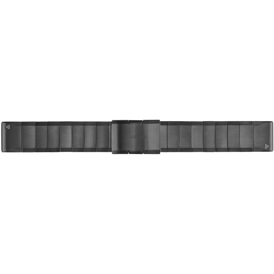Garmin Quickfit 22 stainless steel watch band - slate