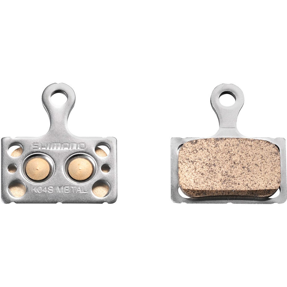 Shimano Spares K04S disc brake pads, steel backed, metal sintered