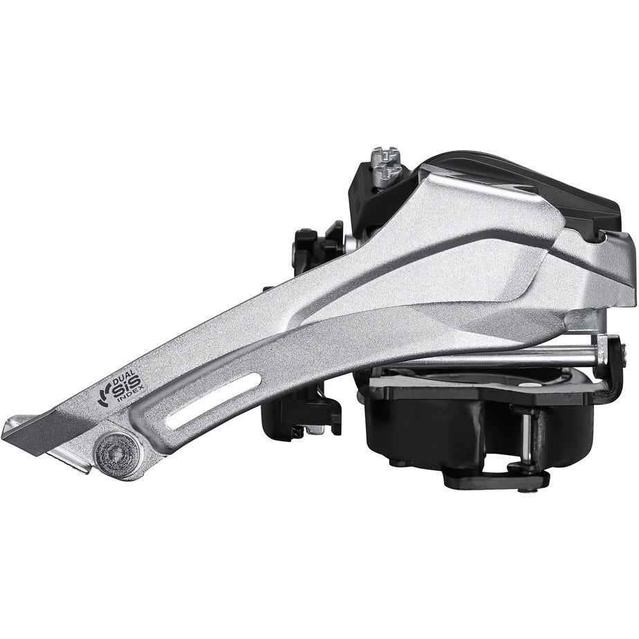 Shimano Tourney / TY FD-TY710 Tourney front mech, 7/8-speed double, top swing, dual pull, multi fit