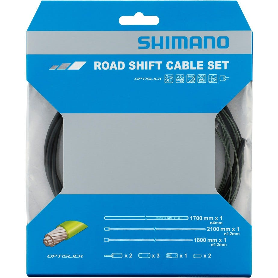 Shimano Spares 105 5800 / Tiagra 4700 Road gear cable set, OPTISLICK coated inners