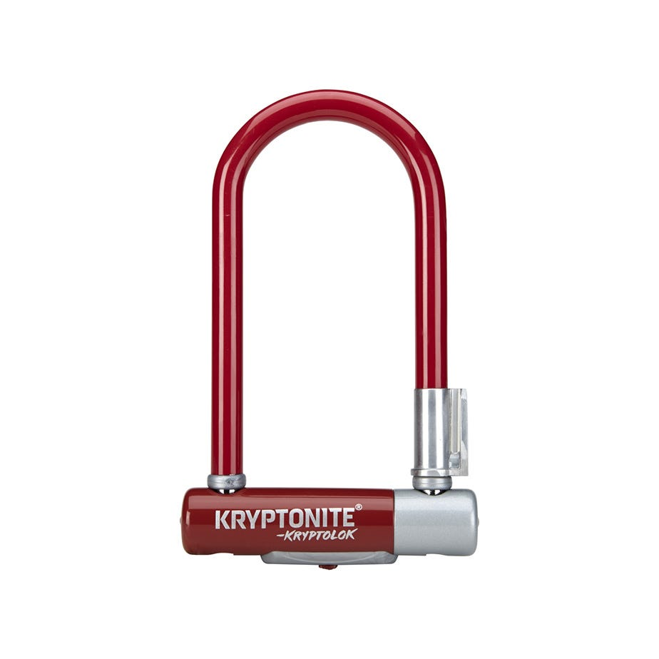 Kryptonite Kryptolok Mini 7 Colour Series- With Flexframe U-Bracket - Sold Secure Silver