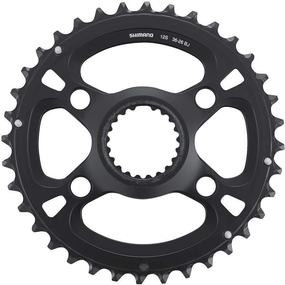 Shimano Spares FC-M8100-2 chainring, 36T-BJ for 36-26T