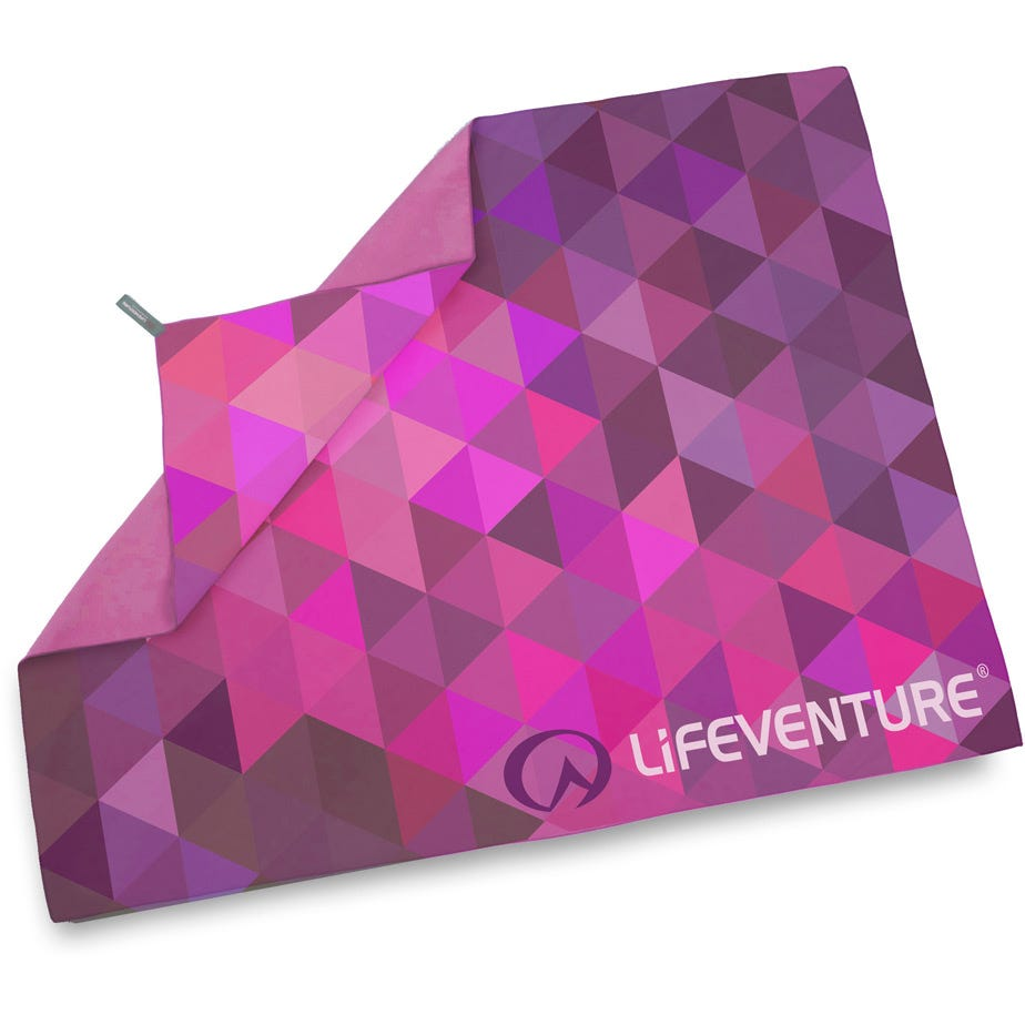 Lifeventure SoftFibre Advanced Trek Towel - Giant - Pink Triangles