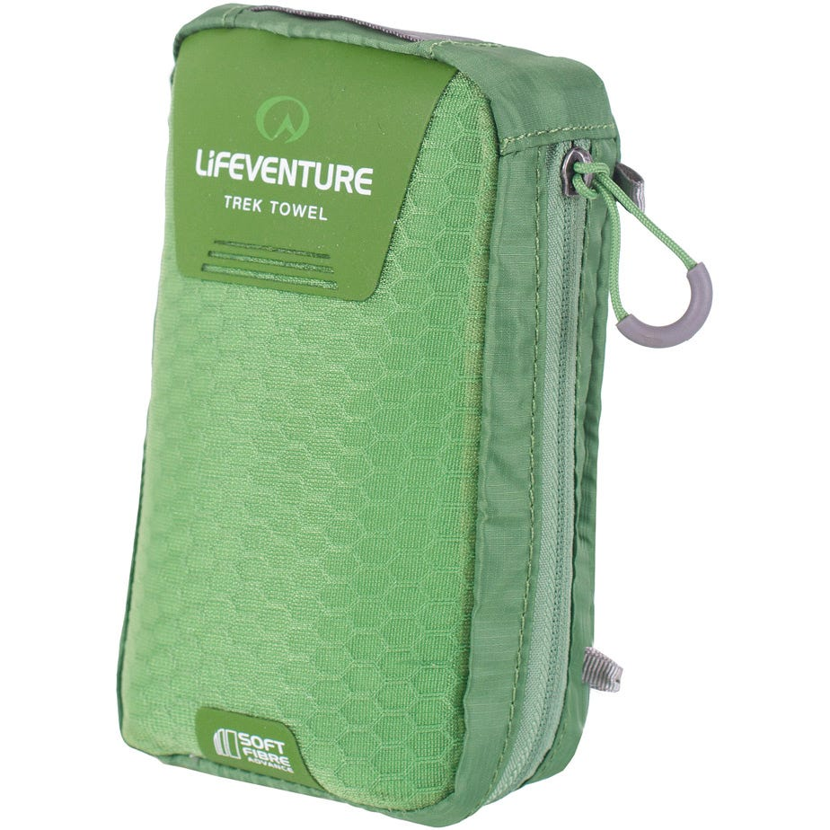 Lifeventure SoftFibre Trek Towel - Large - Green