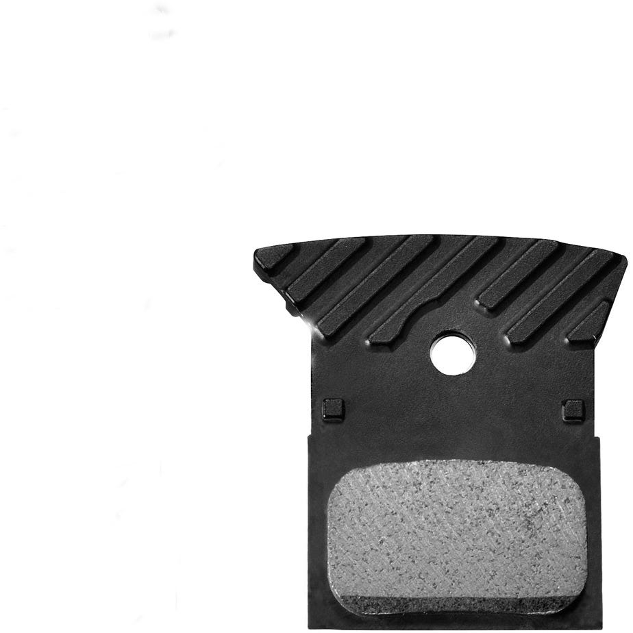 Shimano Spares L02A disc brake pads, alloy backed with cooling fins, resin
