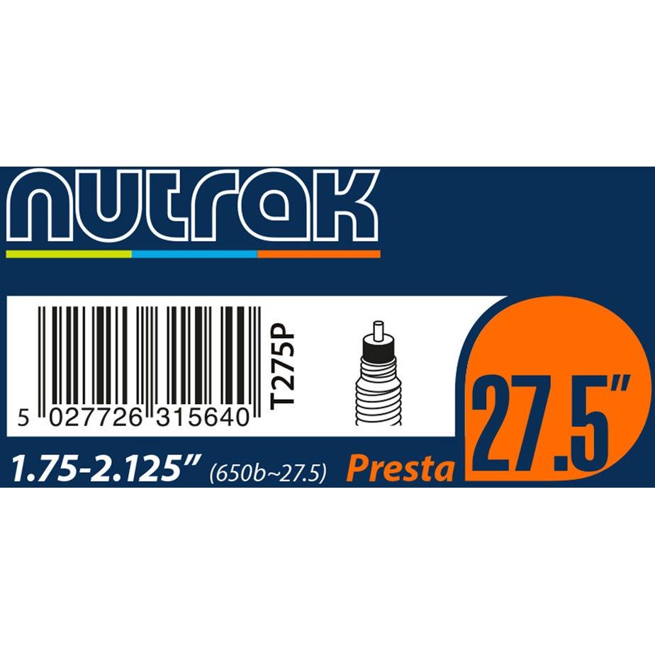 """Nutrak 27.5"""" or 650B x 1.75 - 2.125 Presta inner tube"""