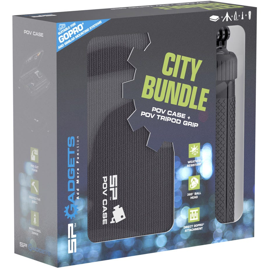 SP Gadgets City Bundle - POV Case DLX and POV Tripod Grip for action cameras