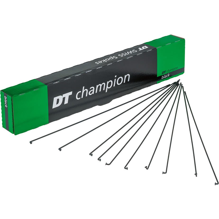DT Swiss Champion black spokes 14g = 2mm box 72, 314 mm