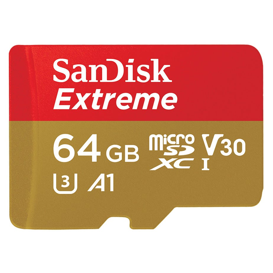 Sandisk 64 GB Extreme Micro SD card