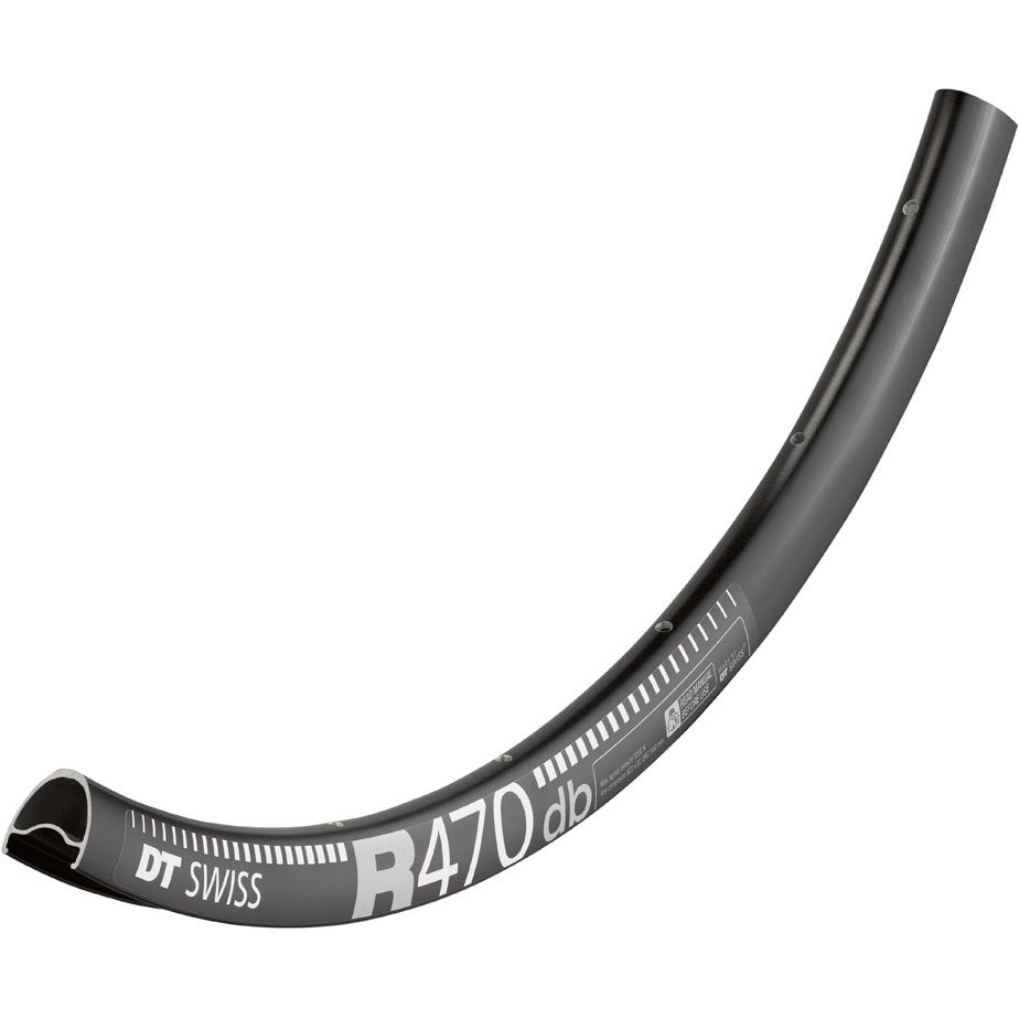 DT Swiss R 470 DB Presta-drilled Disc Brake Black Rim