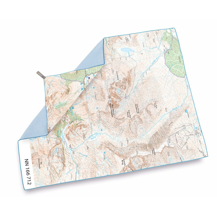 Lifeventure SoftFibre OS Map Towel - Giant - Ben Nevis