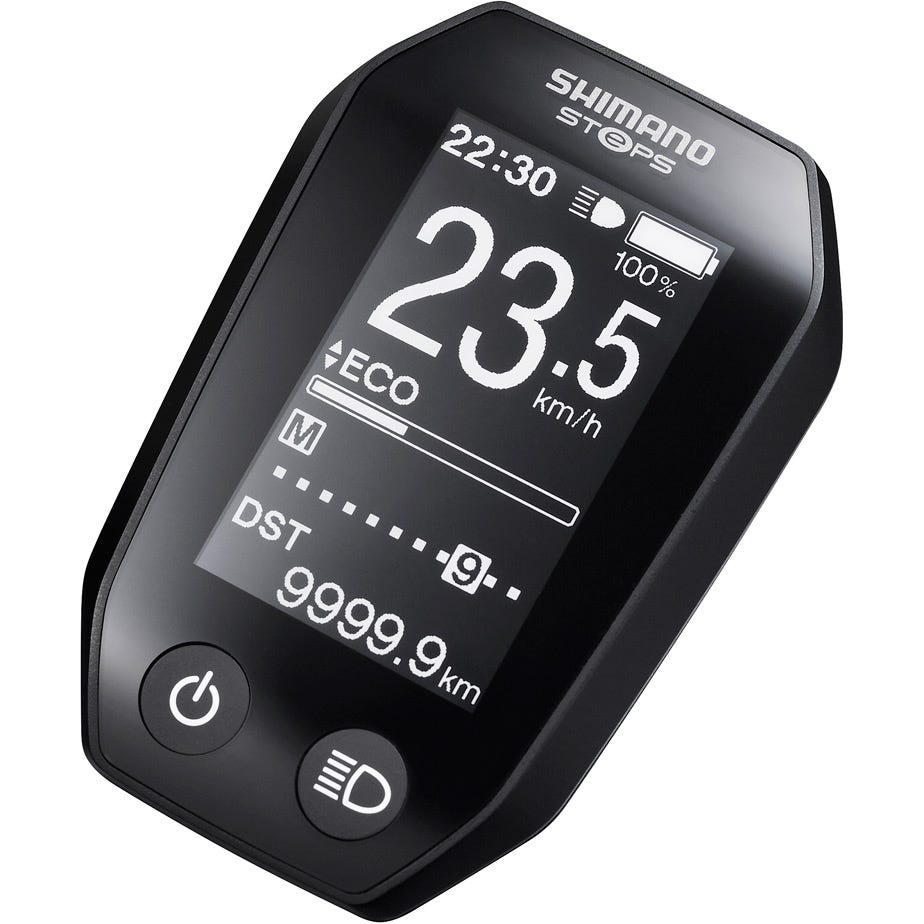 Shimano STEPS SC-E6010 STEPS cycle computer display, right button without light icon