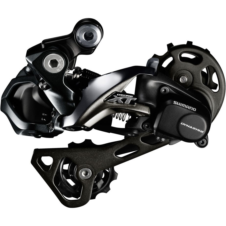 Shimano Deore XT RD-M8050 XT Di2 E-tube rear derailluer, GS medium cage, Shadow+ 11-speed