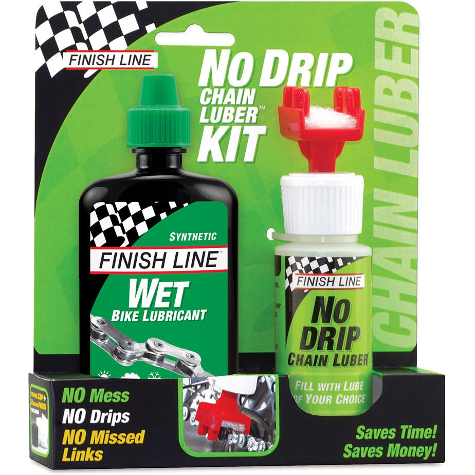 Finish Line No Drip Chain Luber Combo (4oz Wet Lube + No Drip Chain Luber)