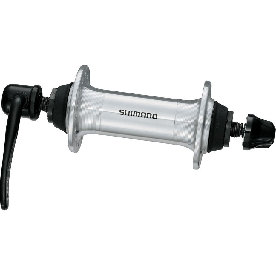 Shimano Altus HB-RM70 front hub.100 mm Q/R, 36 hole silver