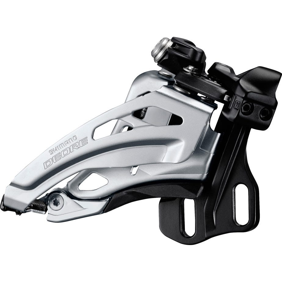 Shimano Deore Deore M617-E double front derailleur, E-type, side swing, front pull