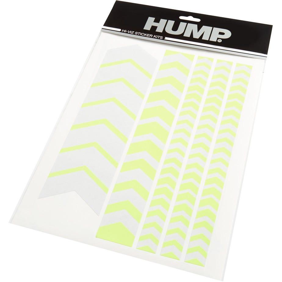 Hump Hi-Viz reflective sticker sheet, chevron yellow