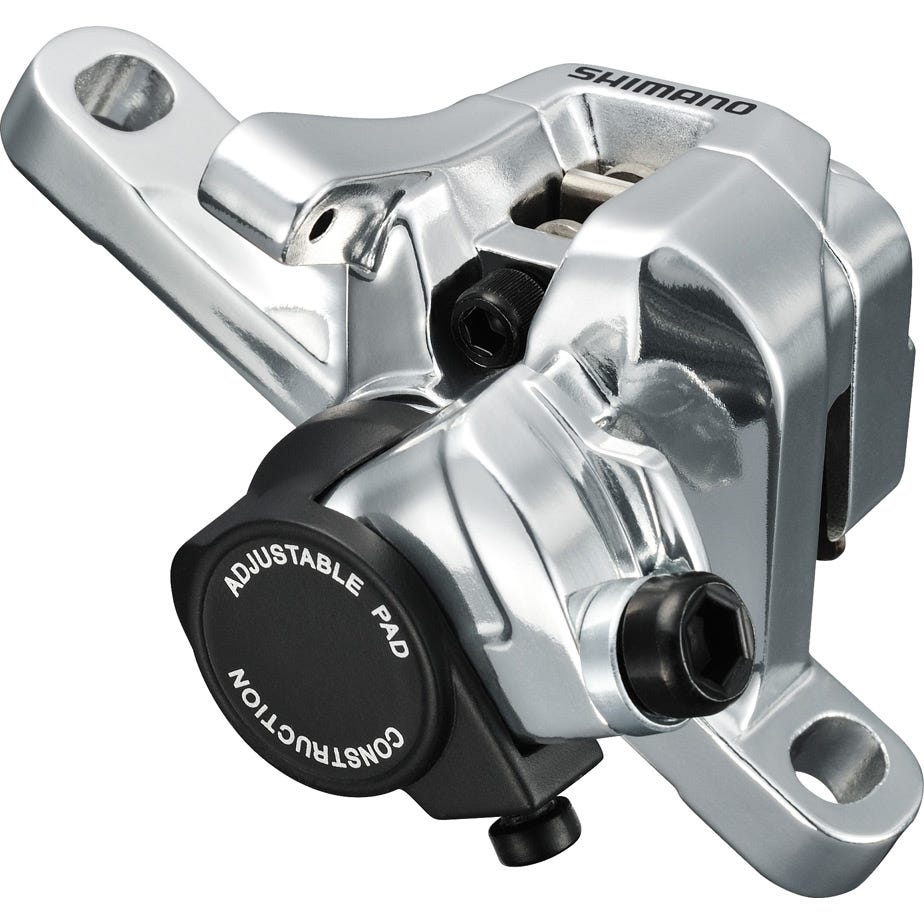 Shimano 105 BR-R517 calliper, without rotor, post mount, front or rear, silver