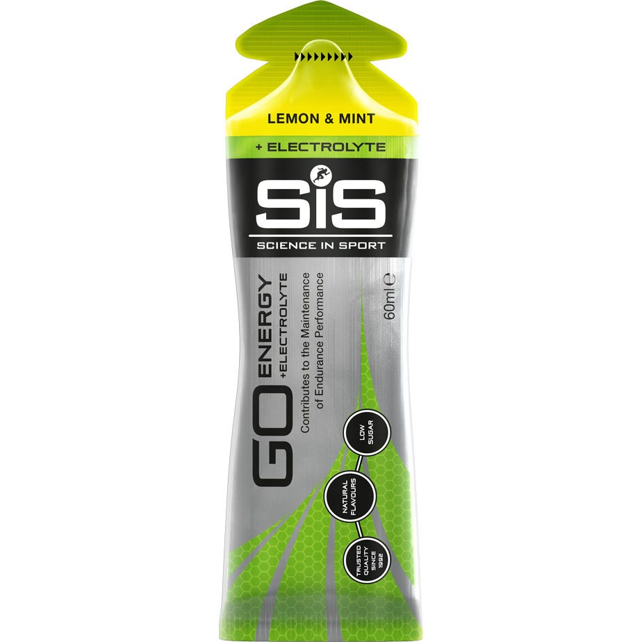Science In Sport GO Energy + Electrolyte Gel Lemon & Mint - 60 ml tube
