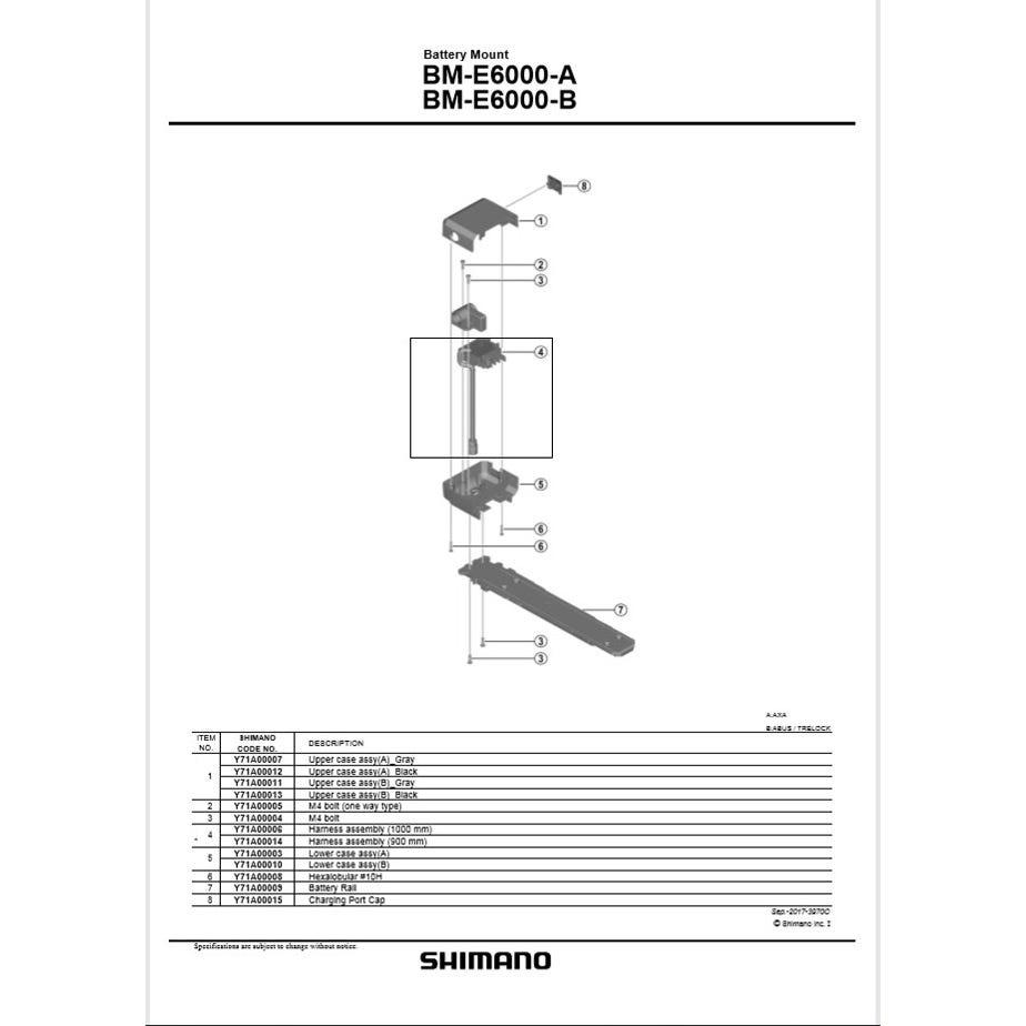Shimano Spares BM-E6010 upper case assembly