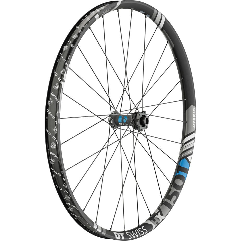DT Swiss HX 1501 Hybrid wheel, 35 mm rim, 15 x 110 mm BOOST axle, 27.5 inch front
