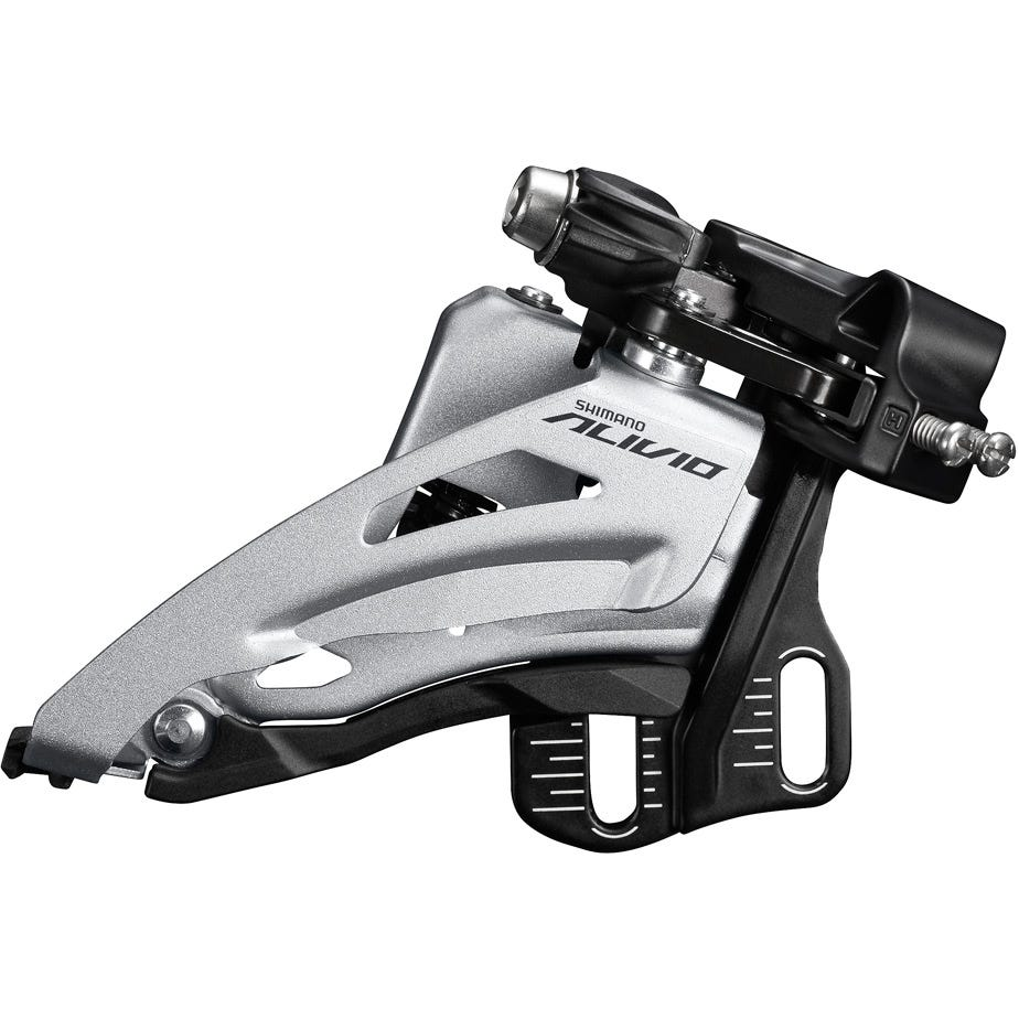 Shimano Alivio FD-M4020 Alivio double front derailleur, E-type fit side swing, chainline 48.8mm