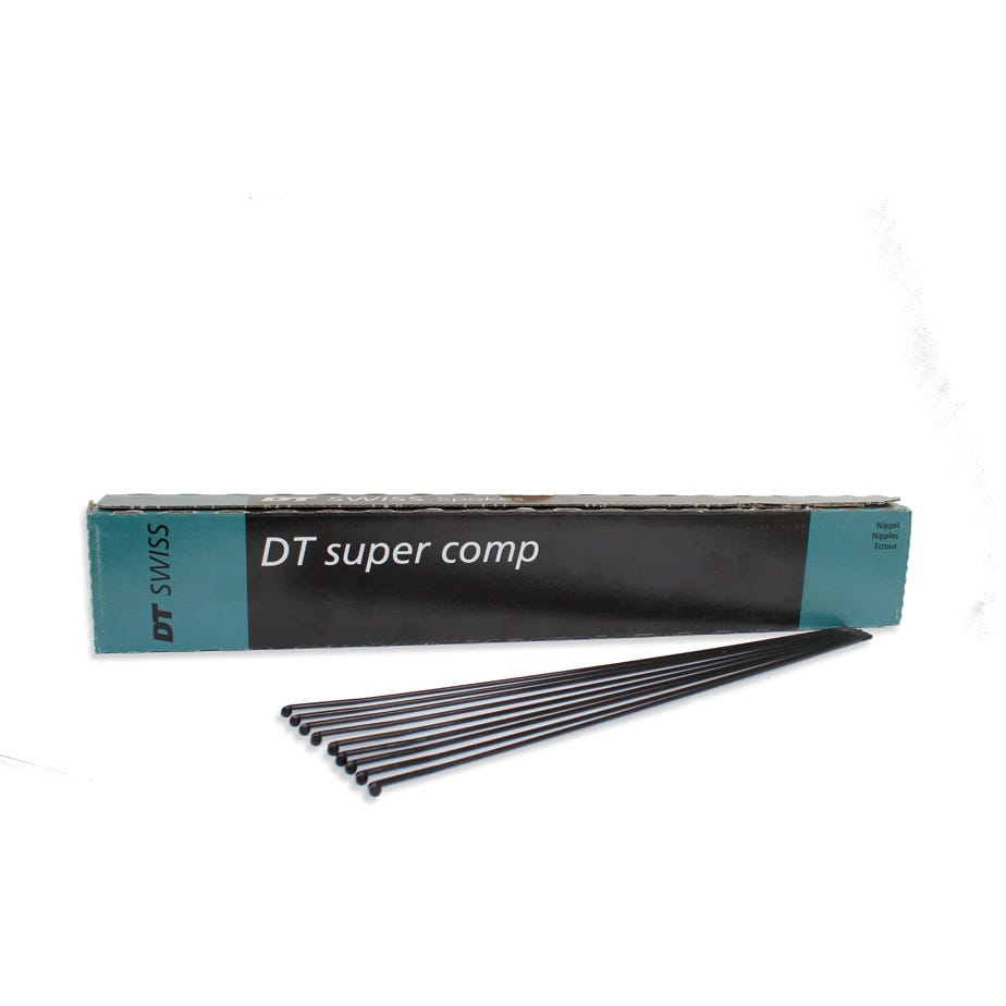 DT Swiss Super Comp black spokes 14 / 16 / 15 g = 2 / 1.7 / 1.8 mm box 500
