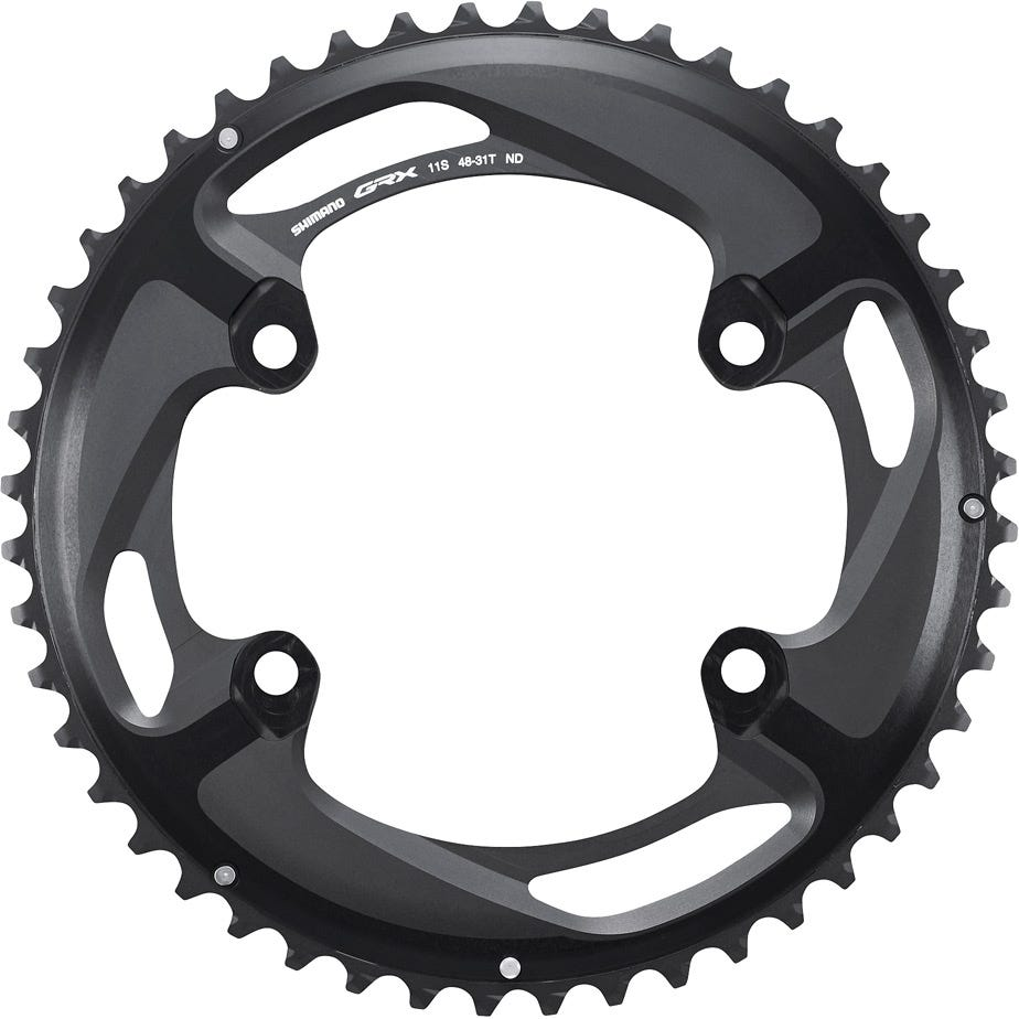 Shimano Spares GRX FC-RX810 chainring 48T-ND, for 48-31T