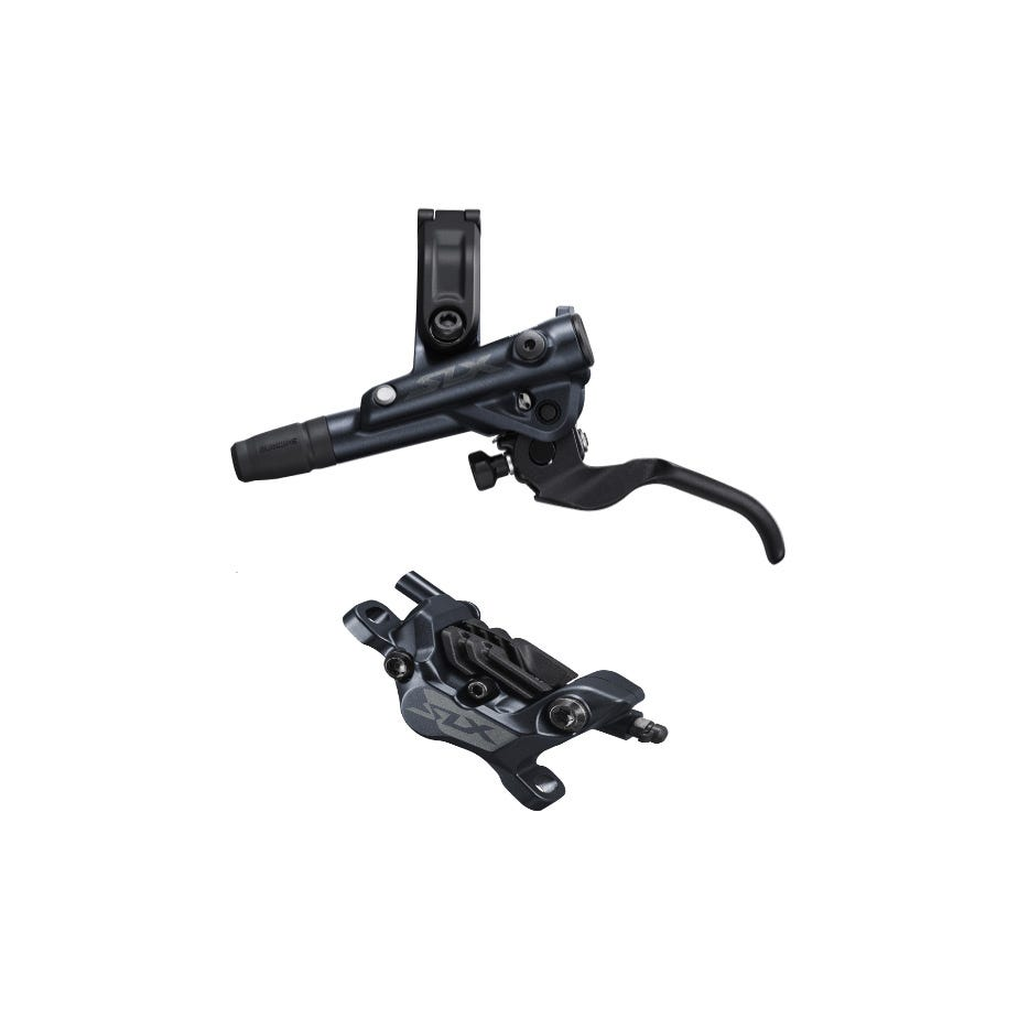 Shimano SLX BR-M7120/BL-M7100 SLX 4 pot bled brake lever/post mount calliper, rear left