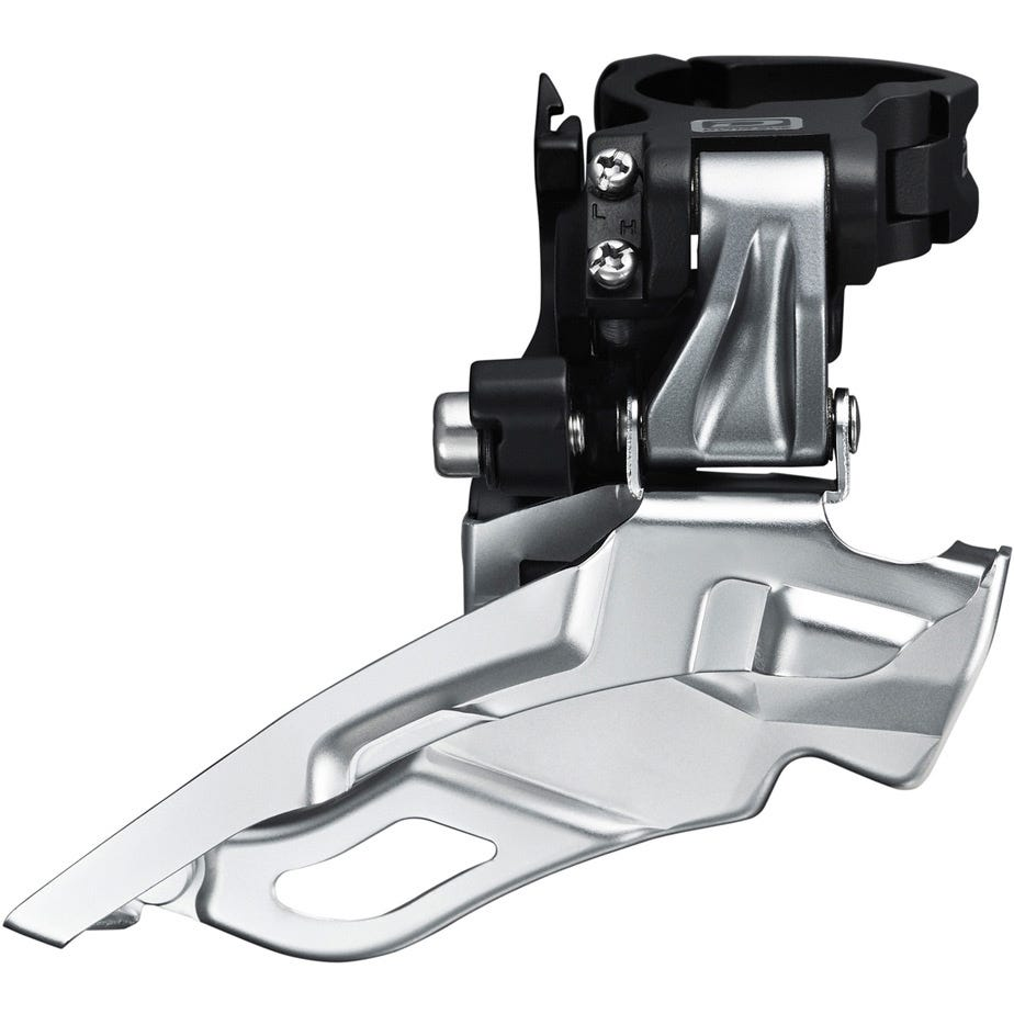 Shimano Deore FD-M611 Deore 10-speed triple front derailleur, conventional swing, top-pull