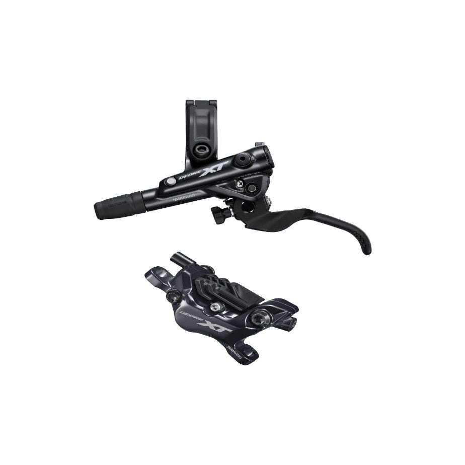 Shimano Deore XT BR-M8120/BL-M8100 XT 4 pot bled brake lever/post mount calliper