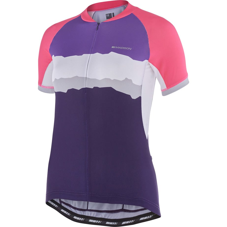 Madison Keirin women's short sleeve jersey, torn stripes