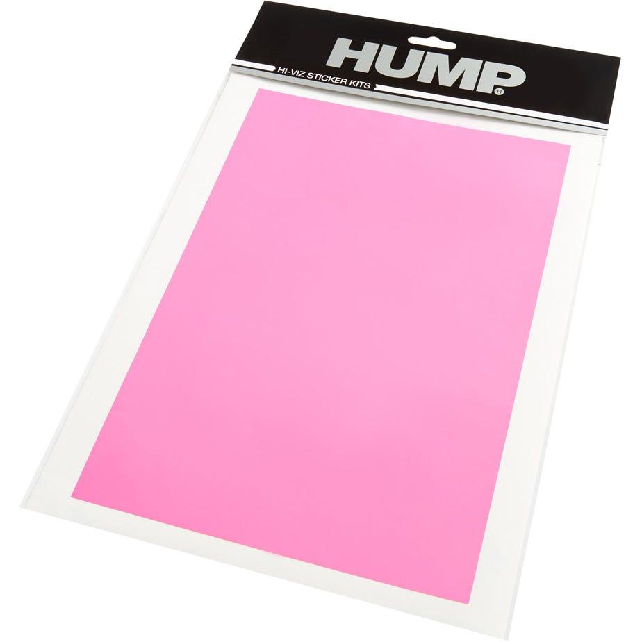 Hump Hi-Viz reflective sticker sheet, plain pink