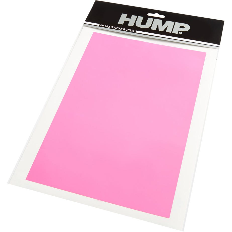 Hump Hi-Viz reflective sticker sheet, plain pink
