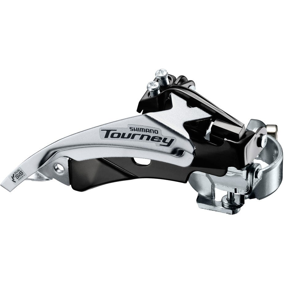 Shimano Tourney / TY FD-TY510 hybrid front derailleur, top swing, dual-pull and multi fit for 48T