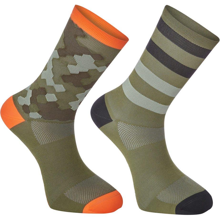 Madison Sportive long sock twin pack, hex camo