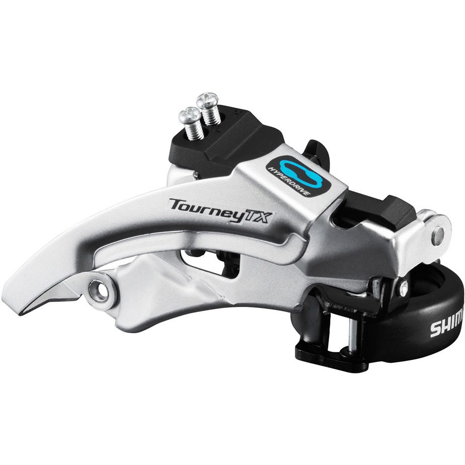 Shimano Tourney / TY FD-TX800 Tourney TX front derailleur, top swing, dual pull, for 42/48T, 63-66