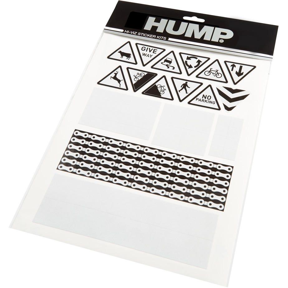Hump Hi-Viz reflective sticker sheet, road signs