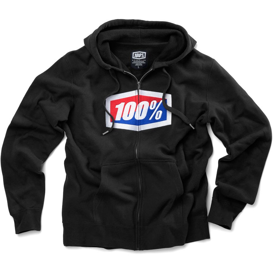 100% Official Zip Hoody