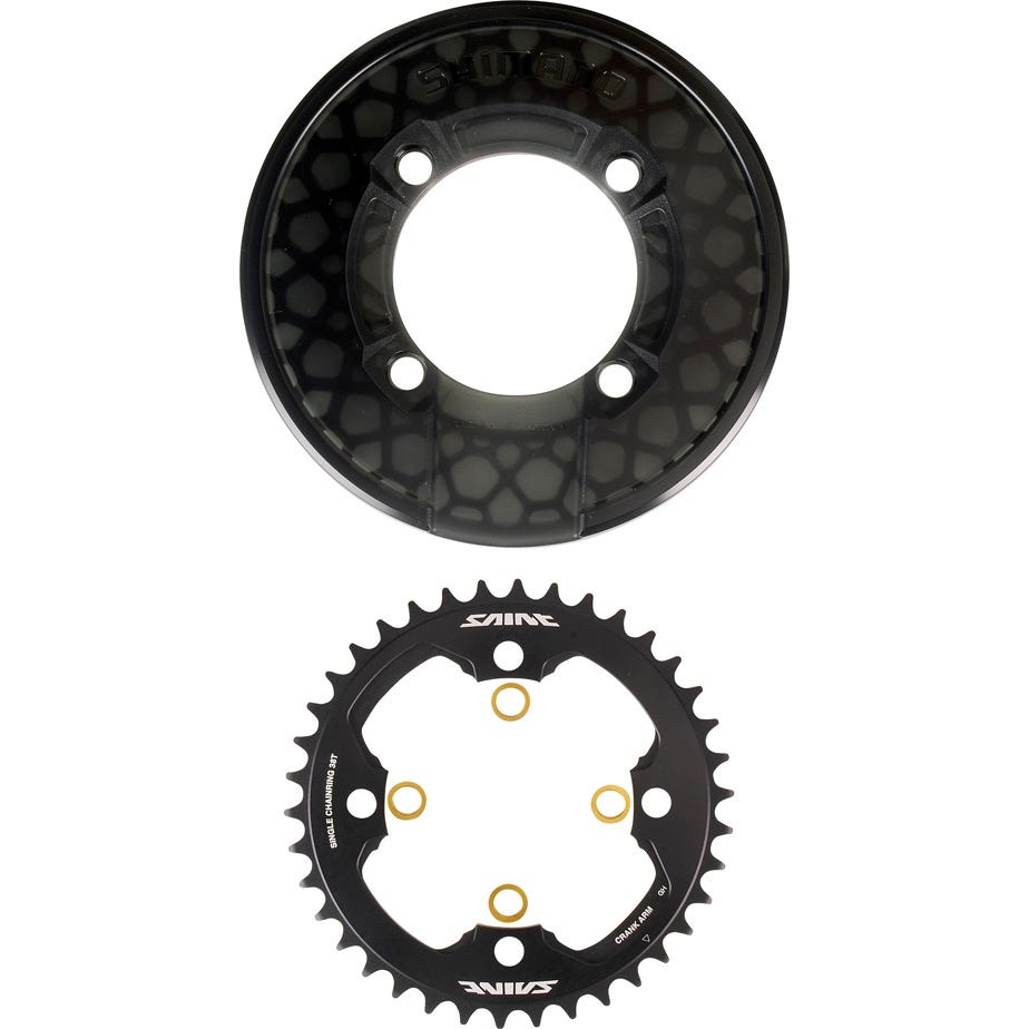 Shimano Saint Saint SM-CR81 chainring and bash guard without fixing bolts