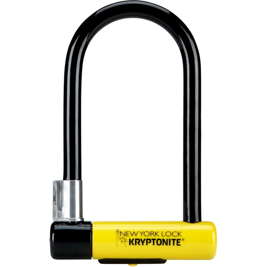 Kryptonite New York Standard Nyl Lock With Flexframe Bracket Sold Secure Gold