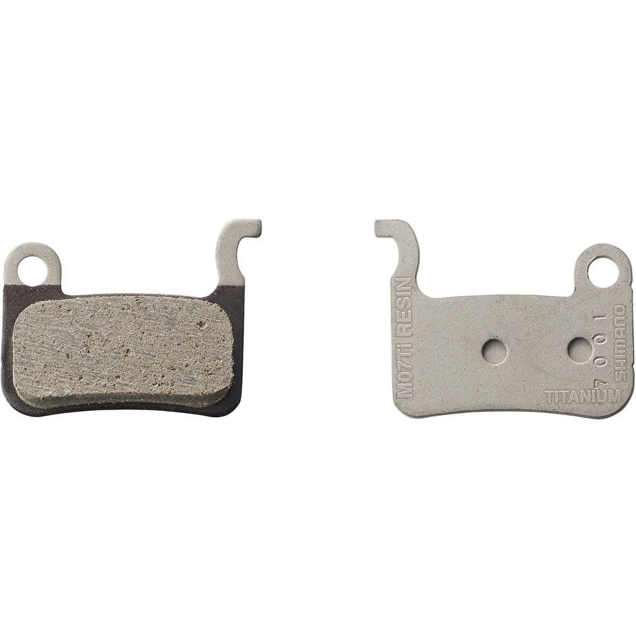 Shimano Spares M07TI disc brake pads and spring - titanium backed - resin