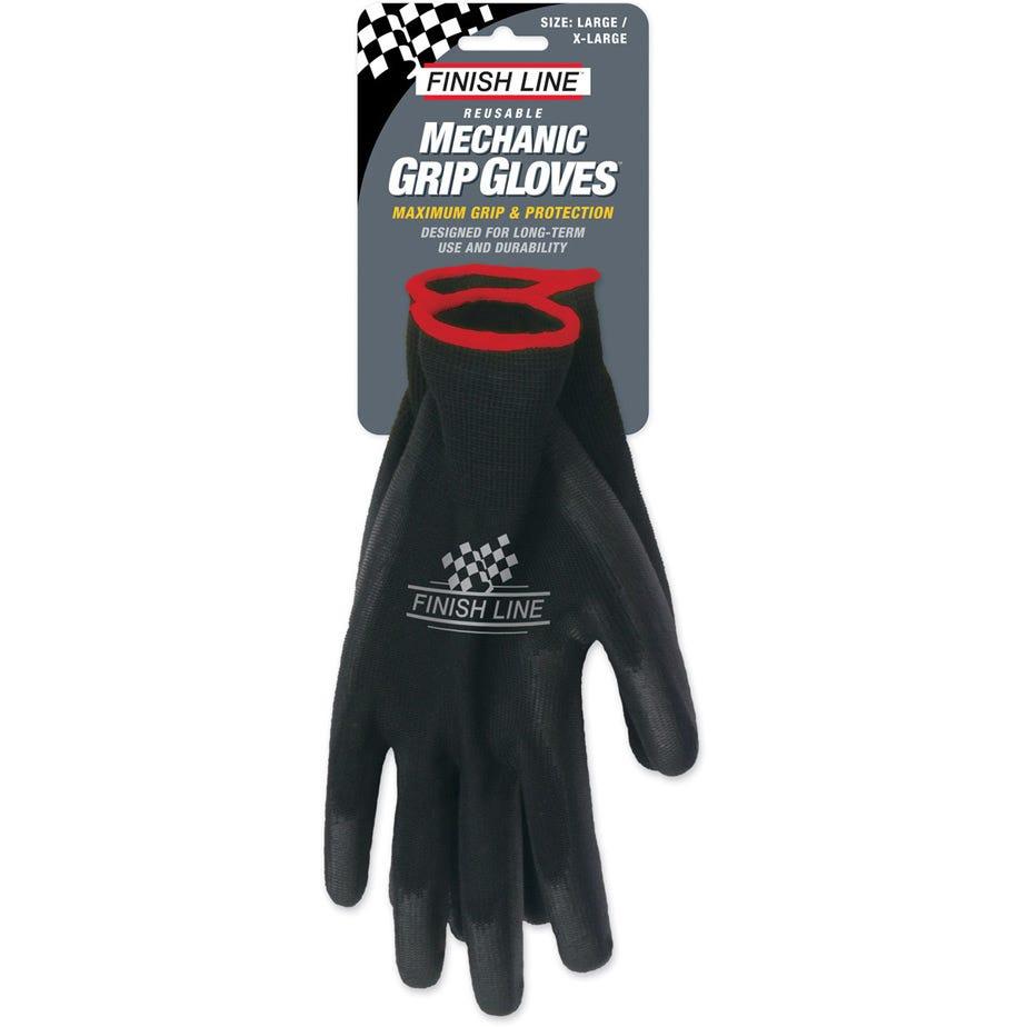 Finish Line Mechanic Grip Gloves (Large / XL)