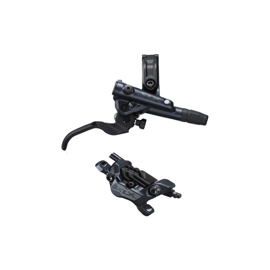 Shimano SLX BR-M7120/BL-M7100 SLX 4 pot bled brake lever/post mount calliper, front right