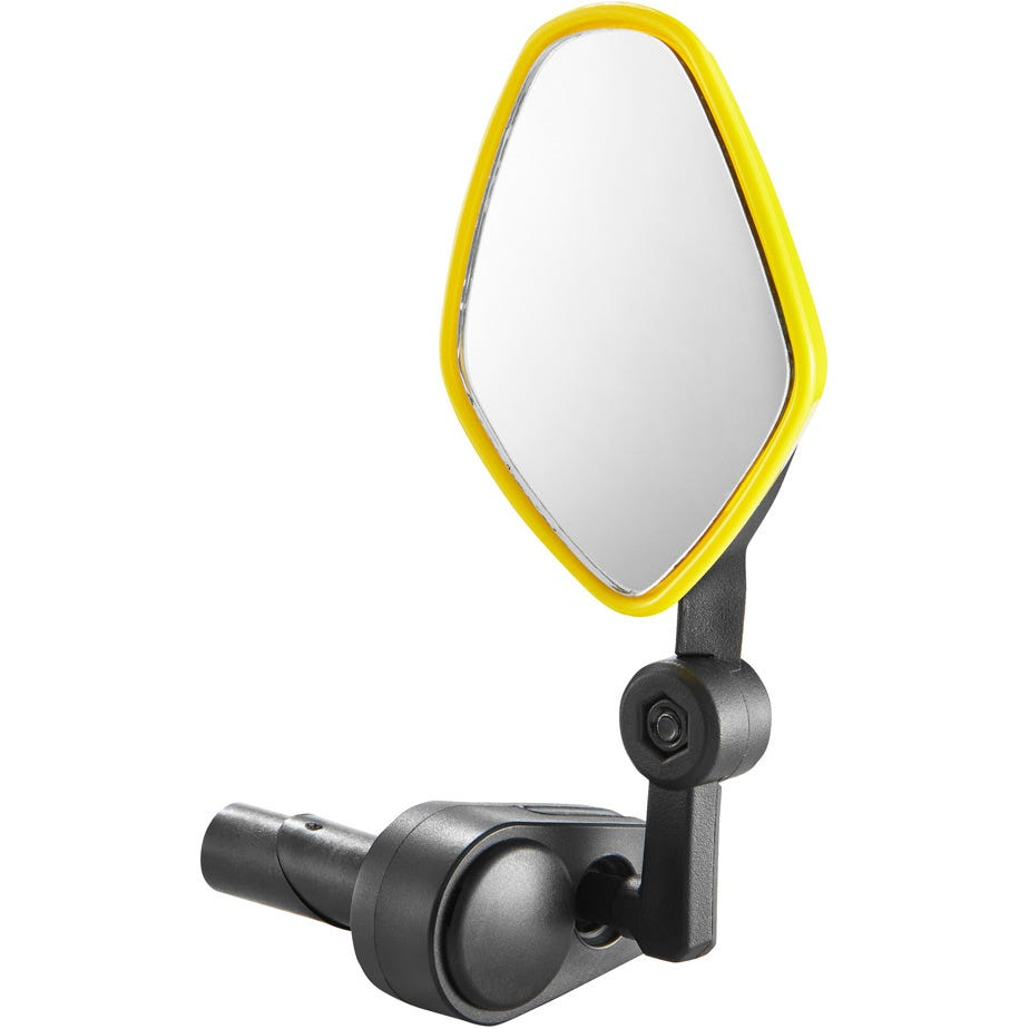 M Part Commute mirror internal bar-end clamp fluoro yellow