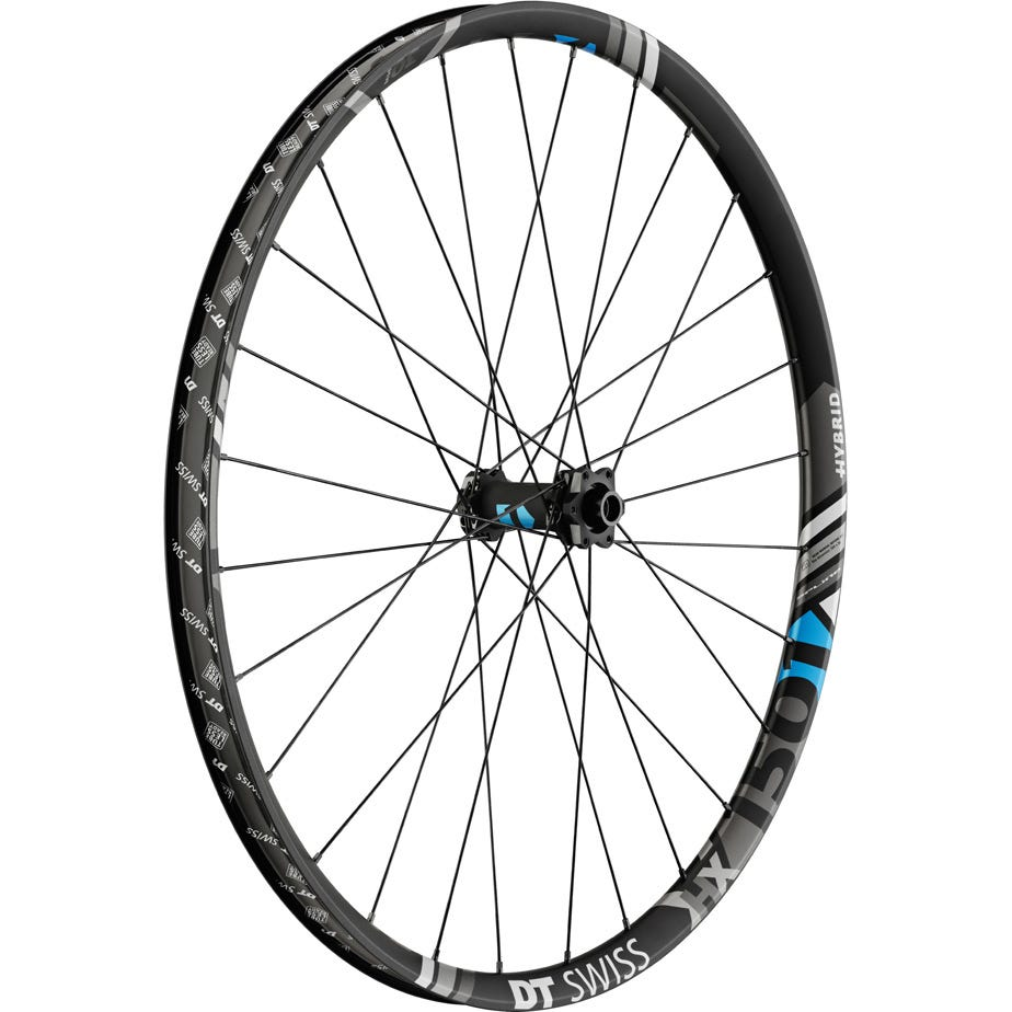 DT Swiss HX 1501 Hybrid wheel, 30 mm rim, 15 x 110 mm BOOST axle, 27.5 inch front