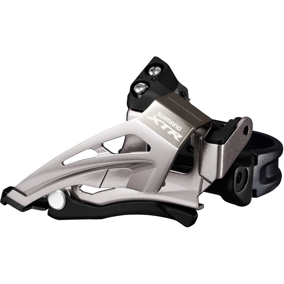 Shimano XTR FD-M9025-L XTR double front derailleur, top swing, down pull, multi fit