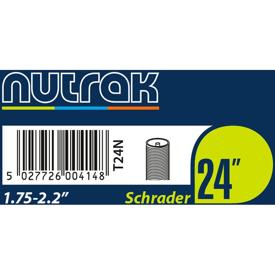 Nutrak 24 x 1.75 - 2.125 inch Schrader inner tube